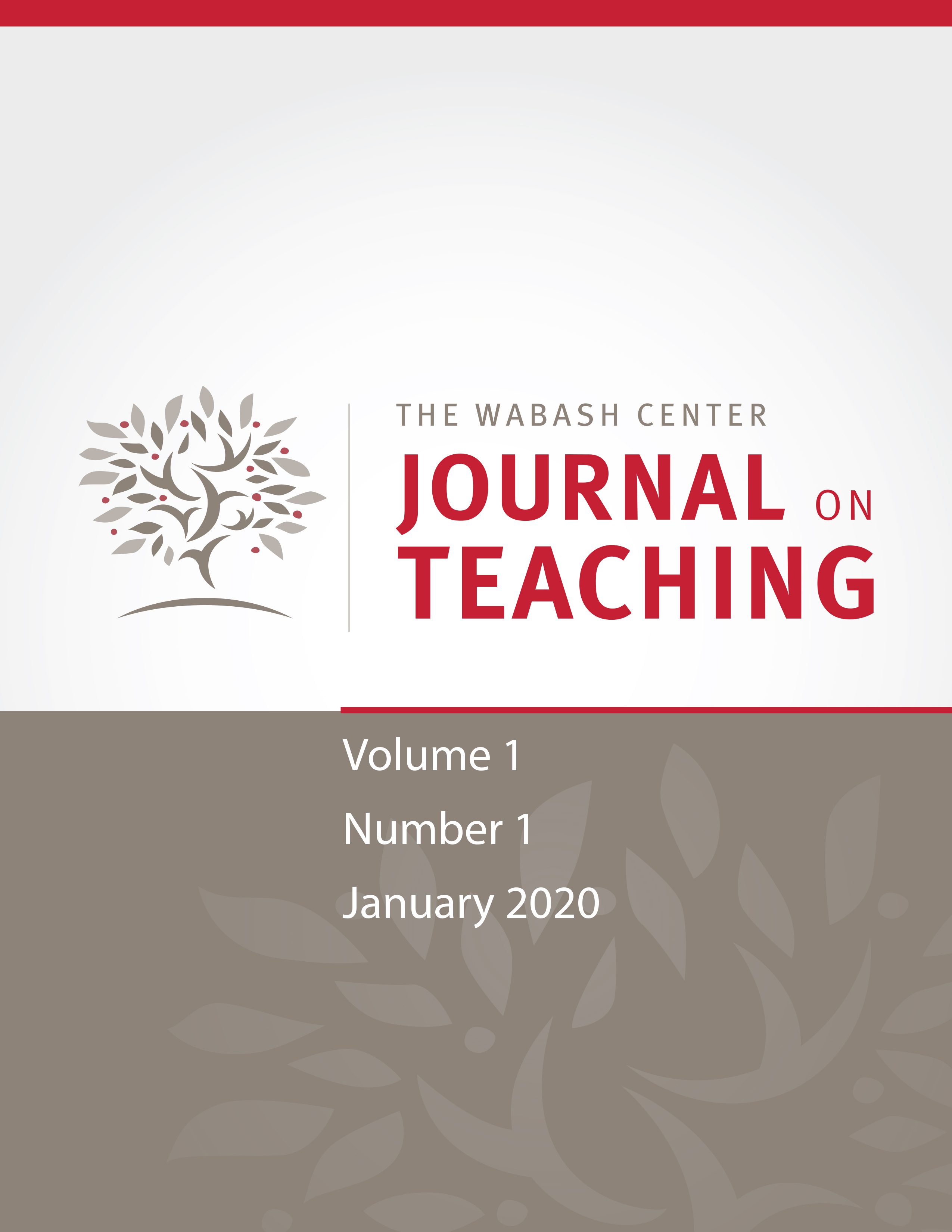 JoT volume 1, issue 1 (January 2020)