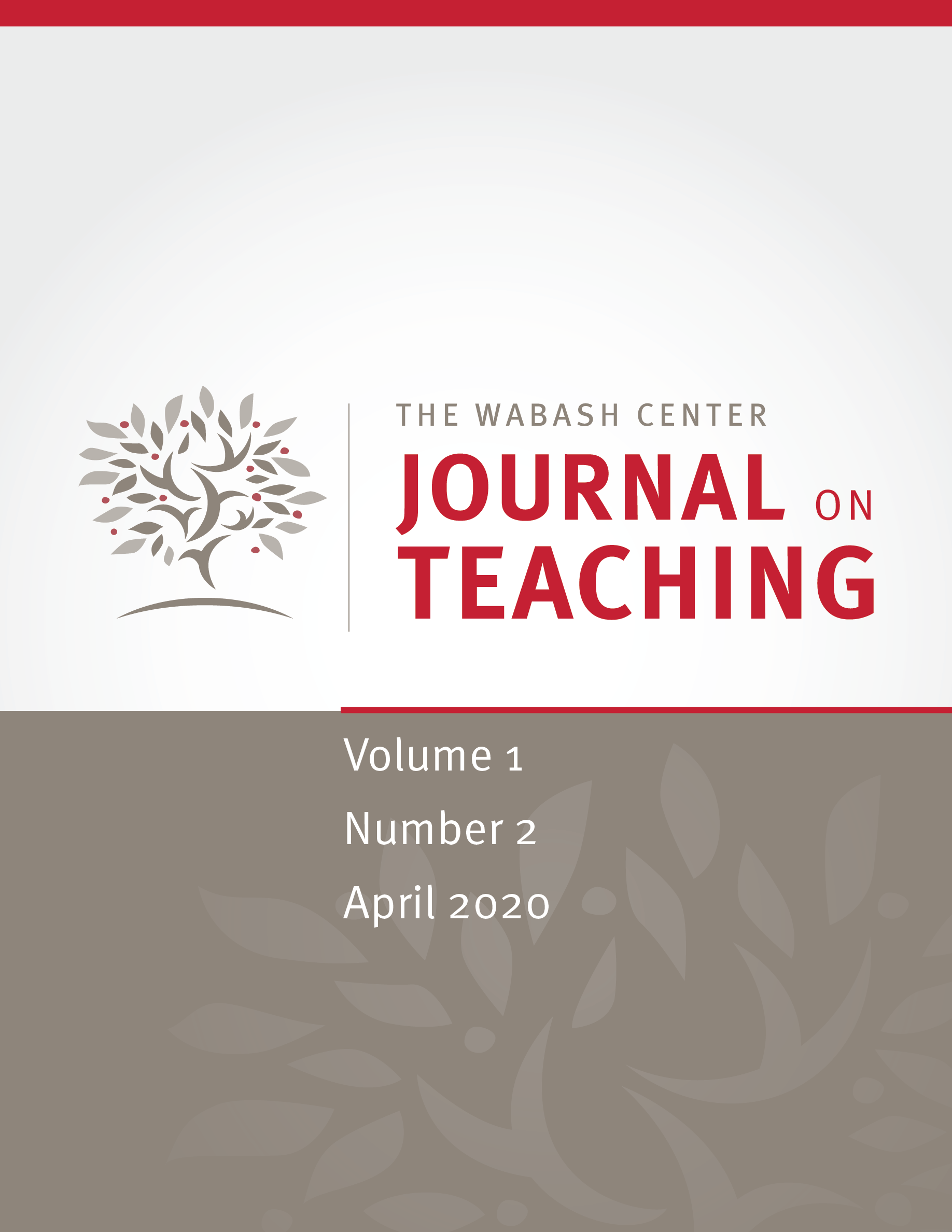 JoT volume 1, issue 2 (April 2020)